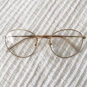 Nonprescription round reading glasses